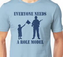 Everyone Needs A Role Model (Navy print) Unisex T-Shirt
