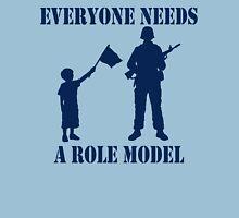 Everyone Needs A Role Model (Navy print) Unisex T-Shirt