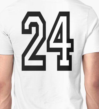 24, TEAM, SPORTS, NUMBER 24, TWENTY, FOUR, Competition,  Unisex T-Shirt