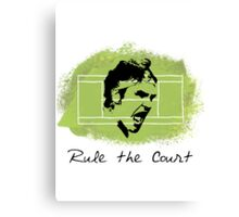 Roger Federer Rule The Court Canvas Print