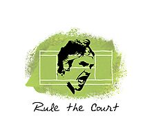 Roger Federer Rule The Court Photographic Print