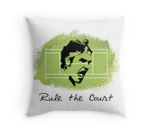 Roger Federer Rule The Court Throw Pillow