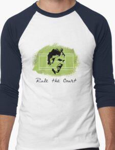 Roger Federer Rule The Court Men's Baseball ¾ T-Shirt