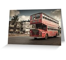 Bombay Bus Greeting Card