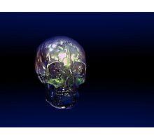 3D Real Human Skull Photographic Print