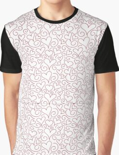 Hearts and Swirls Graphic T-Shirt