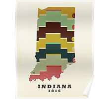 Indiana state map Poster
