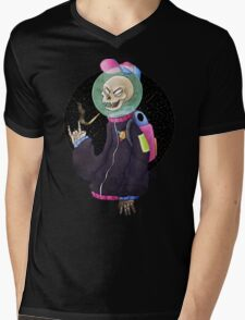 Smoking Skull Mens V-Neck T-Shirt