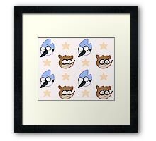 Bird And Raccoon Framed Print