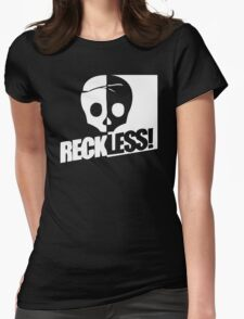 Skate Board Reckless Womens Fitted T-Shirt