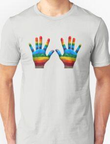 GAY PRIDE | RAINBOW HANDS | LOVE IS LOVE Unisex T-Shirt