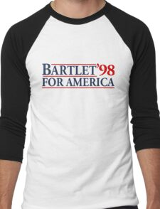 Bartlet for America Slogan Men's Baseball ¾ T-Shirt