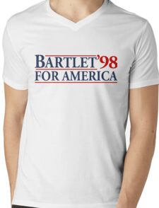 Bartlet for America Slogan Mens V-Neck T-Shirt