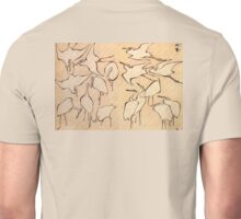 Hokusai, Japan, Japanese, Art, Cranes, Cranes from Quick Lessons in Simplified Drawing Unisex T-Shirt