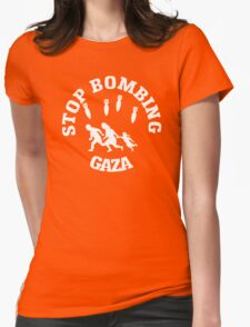 Stop Bombing Gaza Womens Fitted T-Shirt