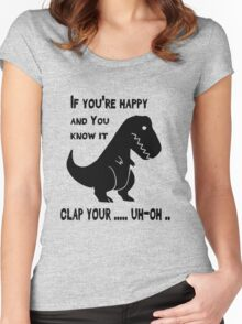 If You Know It Clap Your ... Trex Funny T-shirt Women's Fitted Scoop T-Shirt