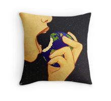 Feed the Greed Throw Pillow
