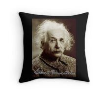 Albert, Einstein, Portrait, signature, Physicist, Genius, mathematician Throw Pillow