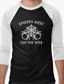 Spiders Meet On The Web Men's Baseball ¾ T-Shirt