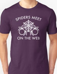 Spiders Meet On The Web Unisex T-Shirt