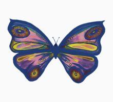 Watercolour Butterfly 1 (Purple) Kids Tee