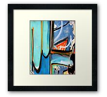 Abtag  - triangle in blue Framed Print