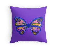 Watercolour Butterfly 1 (Purple) Throw Pillow