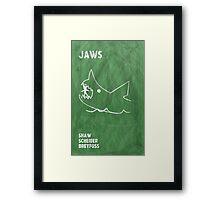 Jaws Movie Poster Design Framed Print