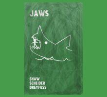 Jaws Movie Poster Design Kids Tee
