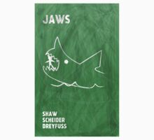 Jaws Movie Poster Design One Piece - Short Sleeve