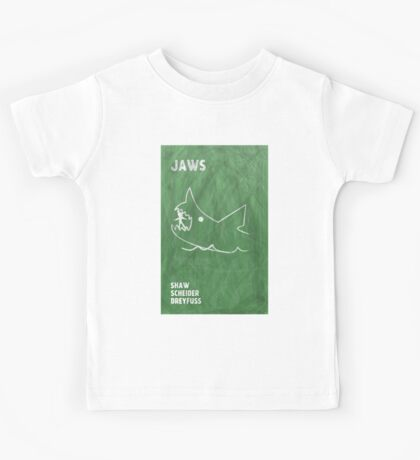 Jaws Movie Poster Design Kids Tee