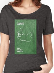 Jaws Movie Poster Design Women's Relaxed Fit T-Shirt