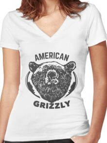 T-shirt American Grizzly Women's Fitted V-Neck T-Shirt