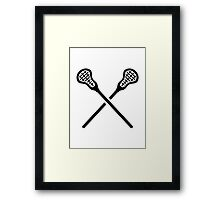 Crossed lacrosse sticks Framed Print