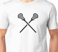 Crossed lacrosse sticks Unisex T-Shirt