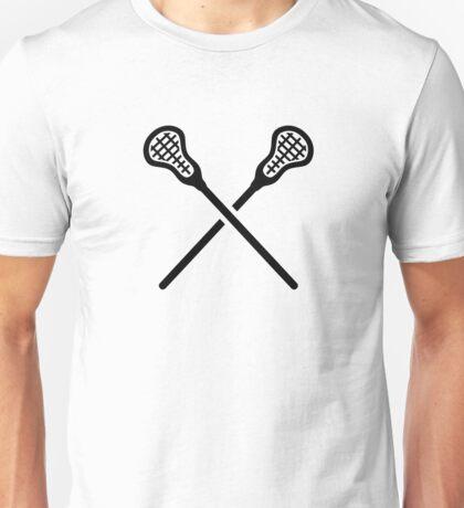 Crossed lacrosse sticks Unisex T-Shirt