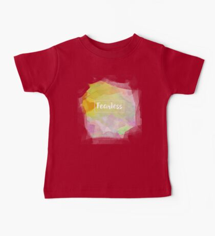 Fearless Motivation Quote Mantra Mauve Rose Watercolor Baby Tee