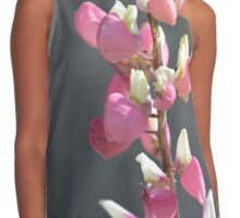 Pink and White Lupine Contrast Tank