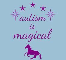 autism is magical - purple Unisex T-Shirt