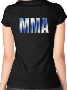 MMA, Mixed, Martial Art, Contest, Combat, Fight, Box, Ju Jitsu, Wrestle, Grapple Women's Fitted Scoop T-Shirt