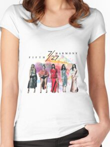Fifth Harmony 7/27 Splash Women's Fitted Scoop T-Shirt