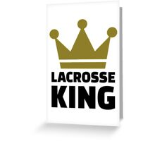 Lacrosse king champion Greeting Card