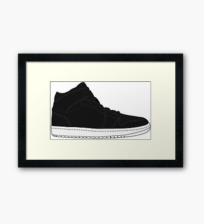 "Air Jordan I (1) ""Cyber Monday"" Framed Print"