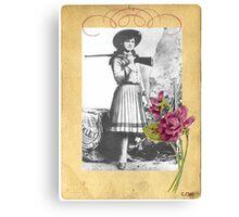 Vintage Annie Oakley Rose American Cowgirl Canvas Print