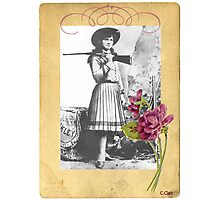 Vintage Annie Oakley Rose American Cowgirl Photographic Print