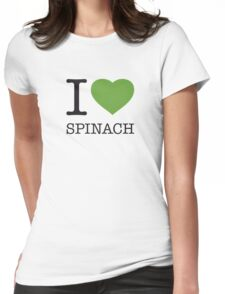 I ♥ SPINACH Womens Fitted T-Shirt