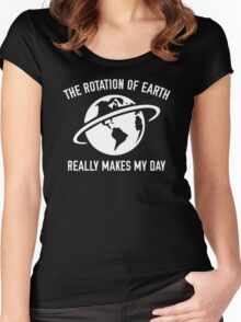 The Rotation Of The Earth Women's Fitted Scoop T-Shirt