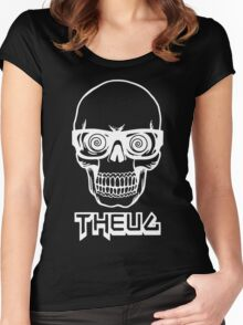 The Urban Geek Skull Women's Fitted Scoop T-Shirt