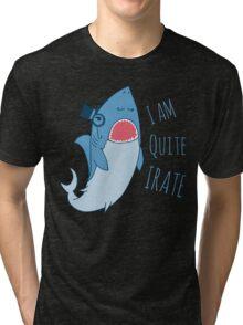 Gentleman Shark quite irate Tri-blend T-Shirt