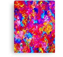"""""""FLOWER ABSTRACT"""" Painting Colorful Print Canvas Print"""